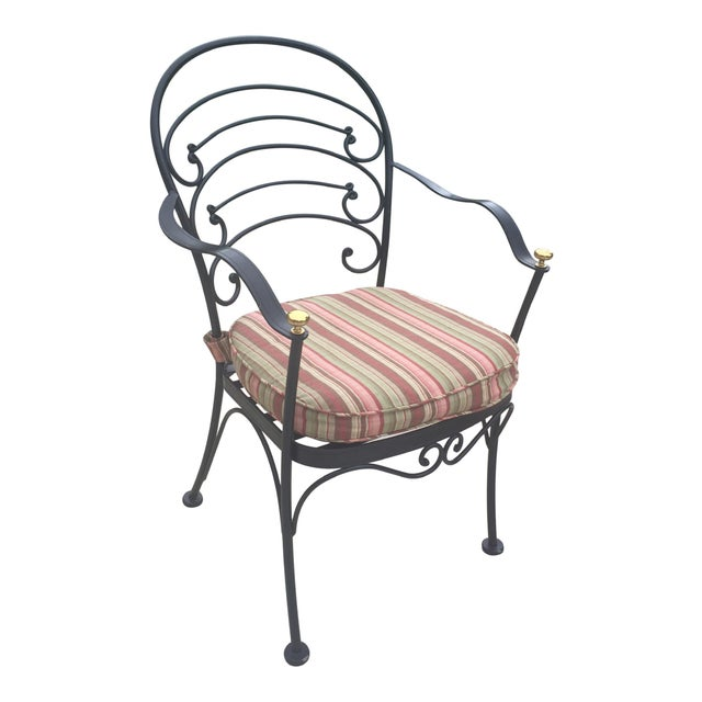 French Country Early 21st Century Woodard Wrought Iron Patio Set- 5 Pieces For Sale - Image 3 of 10