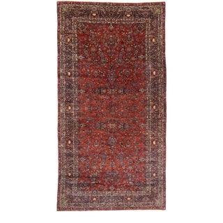 Late 19th Century Antique Persian Qazvin Palace Rug - 11'00 X 21'00 For Sale