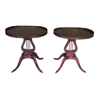 Mersman Style 6651 Lyre Harp End Tables - a Pair For Sale