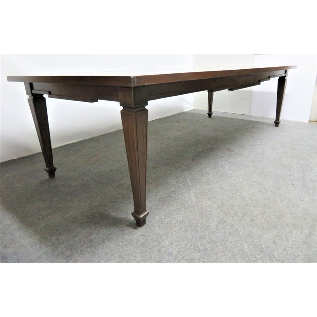 Italian Style Walnut Dining Table For Sale In Philadelphia - Image 6 of 9