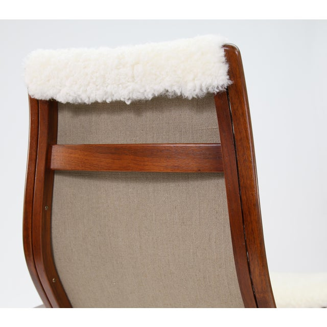 Vintage Yngve Ekstrom for Swedese Lamino Chair and Ottoman For Sale - Image 10 of 13