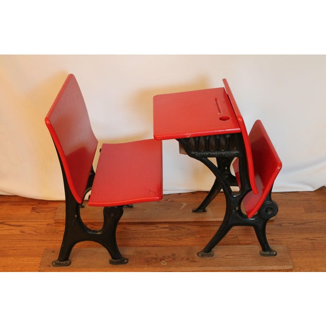 Antique Child's Sears and Roebuck Desk & Seat Set - Image 4 of 10