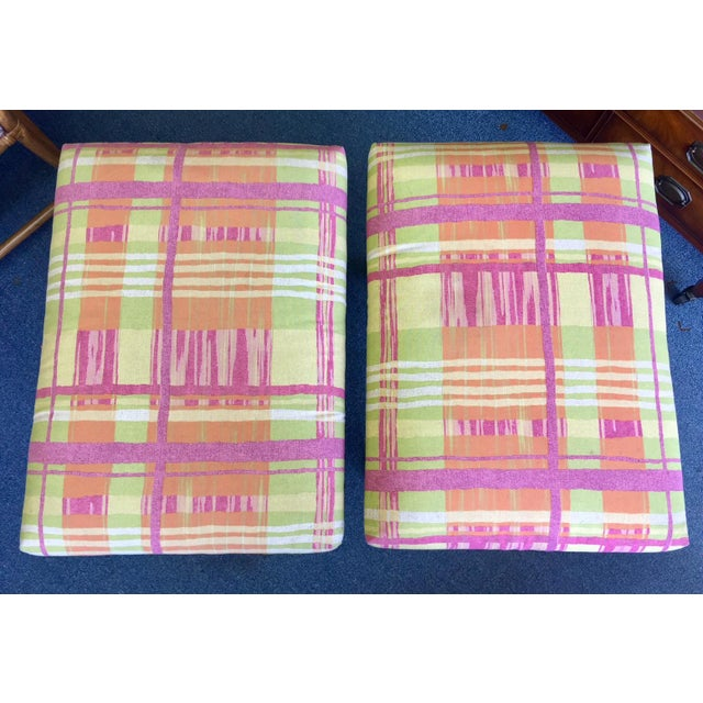 Textile X Base Palecek Benches - a Pair For Sale - Image 7 of 9