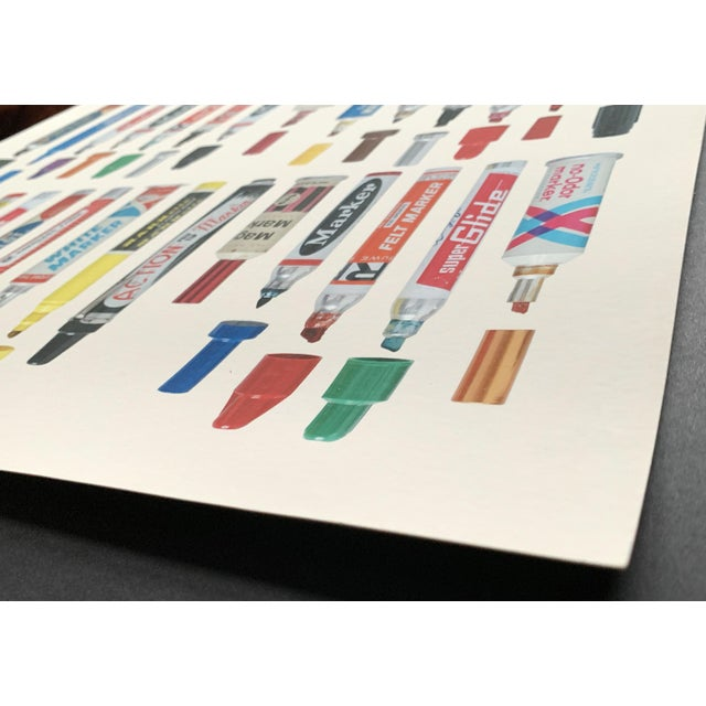 """Spray Paint Contemporary Limited Edition Art Print """"Tools of Criminal Mischief: Markers Edition"""" by Roger Gastman For Sale - Image 7 of 12"""