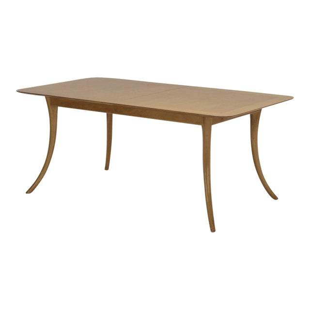 Walnut T.H. Robsjohn-Gibbings for Widdicomb Extendable Dining Table, Signed & Dated 2/1/1957 For Sale