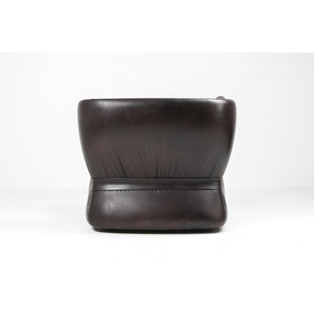 Dark Brown 'Pasha' Lounge Chairs by Durlet - 1970's For Sale - Image 6 of 13