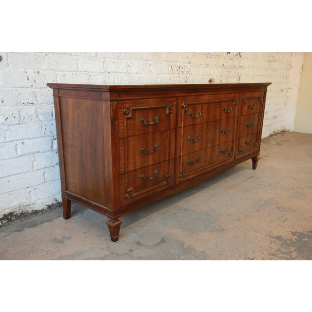 John Widdicomb Vintage Walnut 9-Drawer Dresser - Image 4 of 9