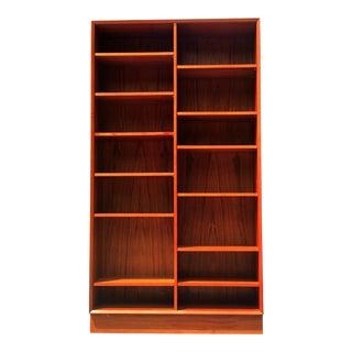 Poul Hundevad Mid Century Danish Modern Teak Modern Bookcase For Sale