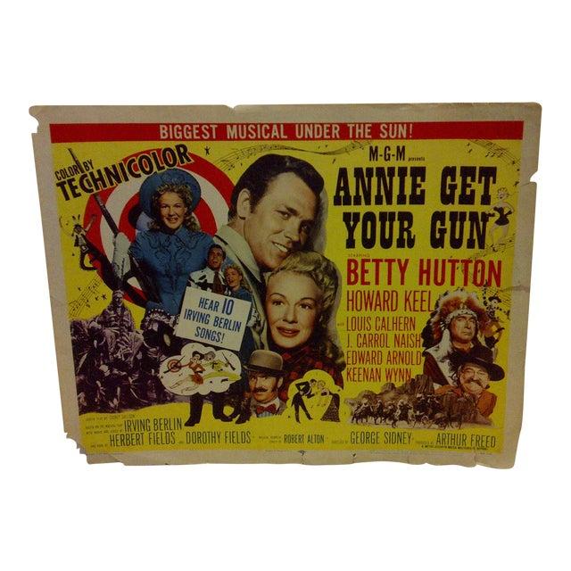 """Vintage Movie Poster """"Annie Get Your Gun"""" Betty Hutton - 1950 For Sale"""