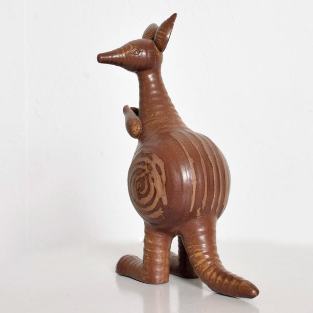Lisa Larson Mid-Century Danish Modern Kangaroo & Joey Ceramic Pottery by Lisa Larson for Gustavberg For Sale - Image 4 of 10