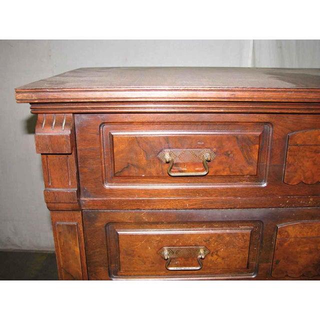 Walnut Stately Walnut Burled Panel Dresser For Sale - Image 7 of 10