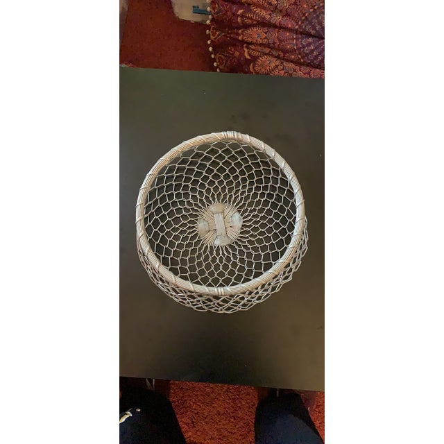 Vintage Wire-wrapped woven bread or fruit basket. Purchased in France, around 1982, this item is part of my mother's...