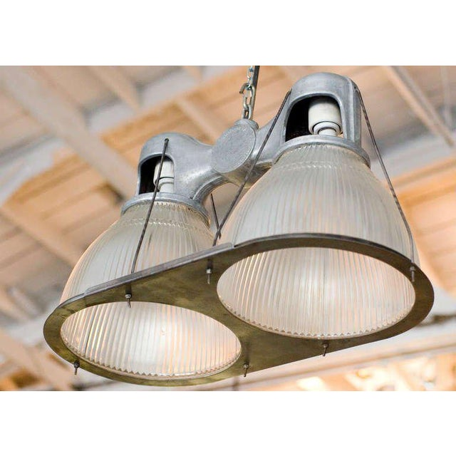 Fine 1940s holophane industrial double pendant lamp decaso 1940s holophane industrial double pendant lamp image 4 of 7 aloadofball Choice Image