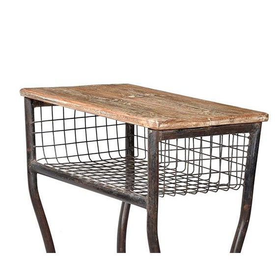 Vintage Wood & Iron School Desk - Image 3 of 3