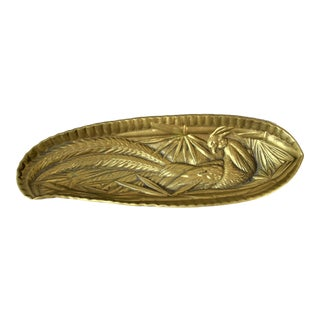 Virginia Metal Crafters Brass Tray For Sale