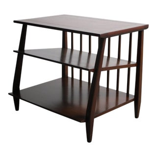 1960s Mid Century Modern Walnut End Table For Sale