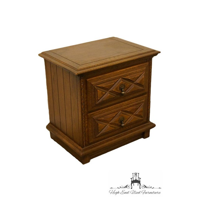 . Young Hinkle Spanish Country Solid Oak 24  Nightstand