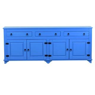 Lisa 4 Door Buffet Cabinet Blue