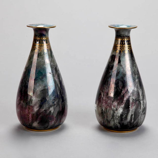Art Deco Pair of Losol Ware Keeling and Co. Vases - Image 5 of 8