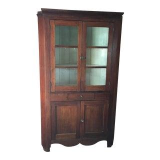 Primitive Antique Corner Cupboard