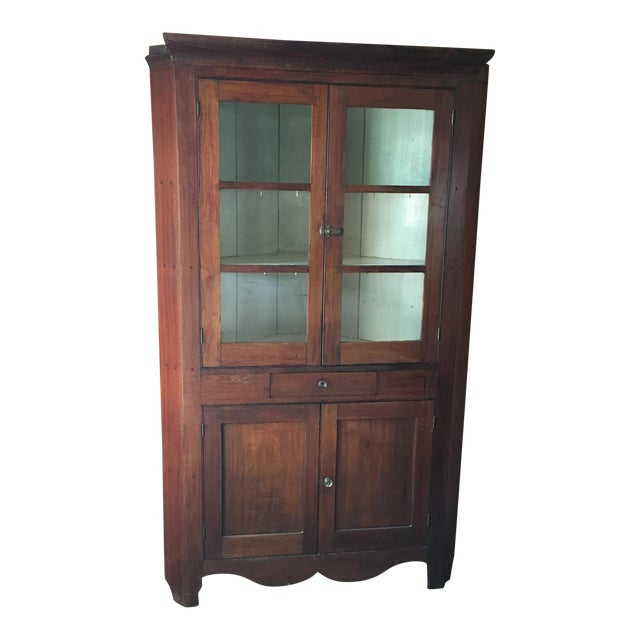 Primitive Antique Corner Cupboard For Sale - Primitive Antique Corner Cupboard Chairish