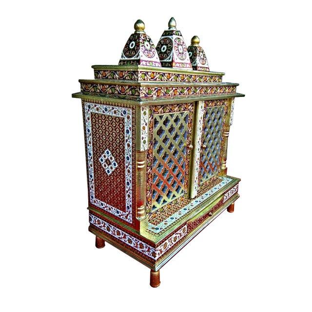 Meenakari Hindu Temple Mandapam Altar - Image 2 of 3