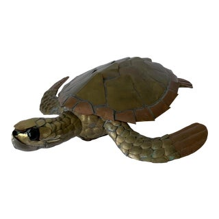 Sergio Bustamante Mixed Metal Turtle For Sale