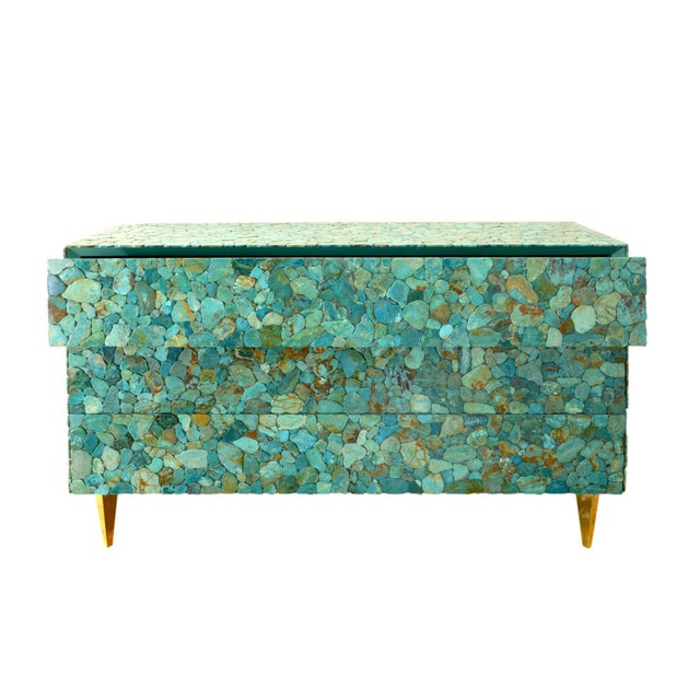 Contemporary Kam Tin - Turquoise Large Chest of Drawers, France, 2015 For Sale - Image 3 of 10