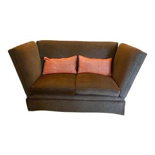 Knole Brown Mohair Sofa