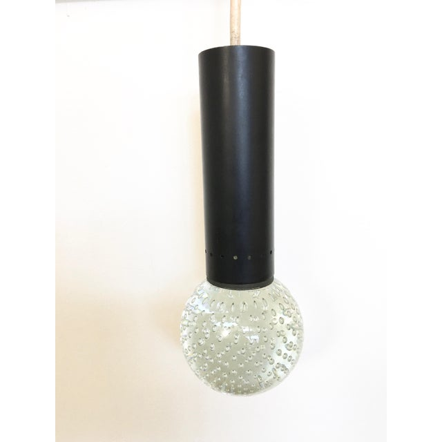 Mid-Century Modern Vintage Gino Sarfatti Murano Glass Bubble Pendant Light For Sale - Image 3 of 6