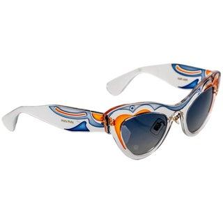 2014 Miu MIu Runway Butterfly Cat Eye Sunglasses For Sale