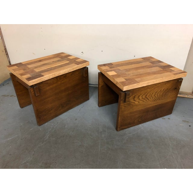 This listing is for a pair of mid century Lane end tables. Made in the 1970s.