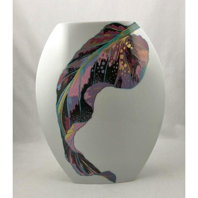 Rosenthal Germany Rosenthal Porcelain Brigitte Doege Calla Lily Vase For Sale - Image 4 of 10