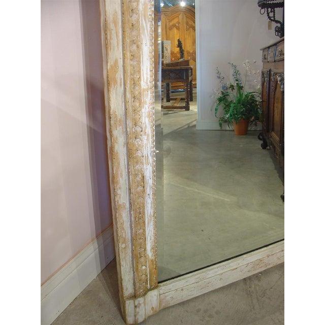 Monumental Antique, French Parcel Paint Trumeau Mirror For Sale - Image 4 of 10