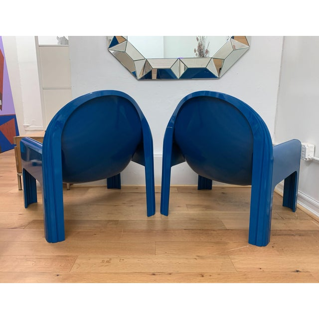 Kartell 1970s Vintage Gae Aulenti for Kartell Italian Lounge Chairs- A Pair For Sale - Image 4 of 13