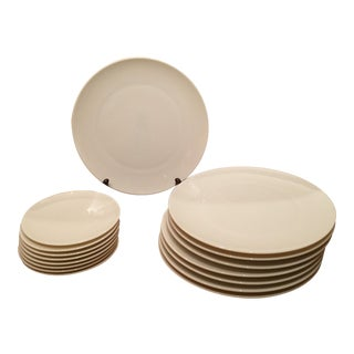 8 Lenox Classic White Dinner Plates & 8 Bread & Butter Plates - 16 Pieces For Sale