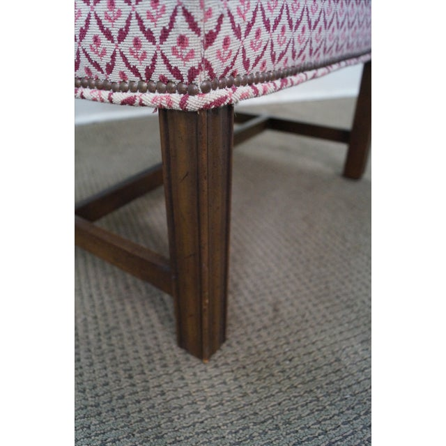 Baker Furniture Co Chippendale Style Ottoman - Image 5 of 10
