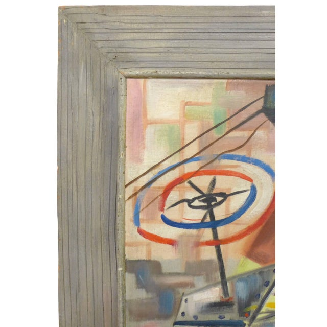 Mid-Century Modern 1940s Abstract Painting by Art Miller For Sale - Image 3 of 5