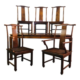 Vintage Henredon Mahogany Dining Set - 6 Pieces For Sale