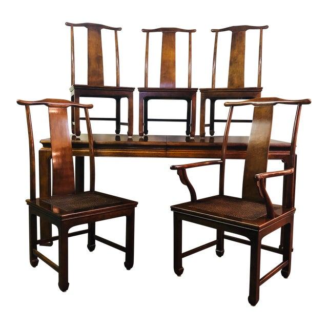 Vintage Henredon Mahogany Dining Set - 6 Pieces For Sale