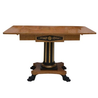 19th Century Swedish Cherrywood Biedermeier Pedestal Sofa Table For Sale