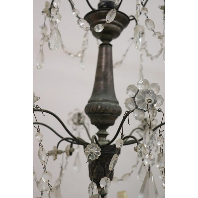 18th Century Italian Louis XVI Crystals Antique Chandelier For Sale - Image 10 of 12