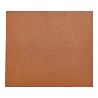 """Leather Desk Mat in 14"""" x 16"""" in Navy & Tan For Sale"""