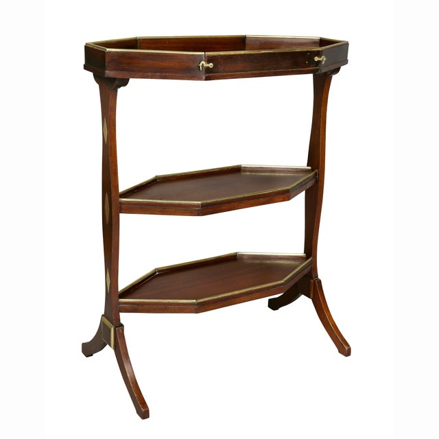 Directoire Mahogany and Brass Mounted Table For Sale - Image 4 of 13