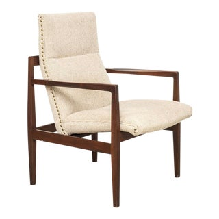 Mid Century Jens Risom Floating Lounge Chair For Sale