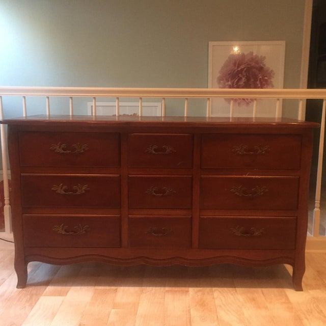Vintage French Provincial Dresser with Mirror - Image 3 of 11