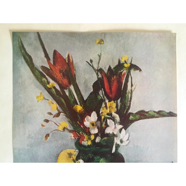 "This Paul Cezanne rare vintage 1952 Post Impressionist authentic lithograph print "" Tulips and Apples "" 1890, is an..."