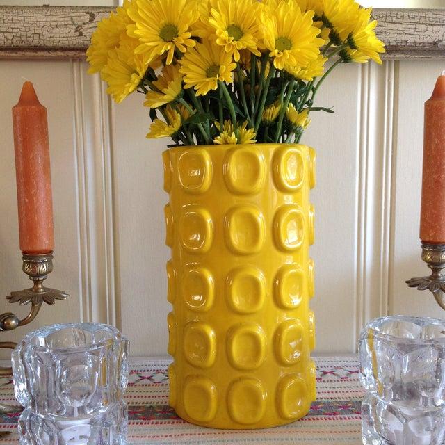 Modern Yellow Ceramic Vase - Image 6 of 10
