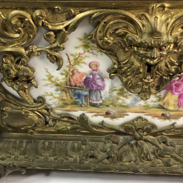 Victorian KPM Porcelain & Gilded Bronze Jewelry Box For Sale - Image 11 of 11