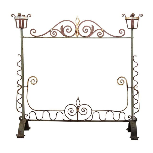 20th Century Traditional Wrought Iron Fire Place Screen For Sale - Image 10 of 10